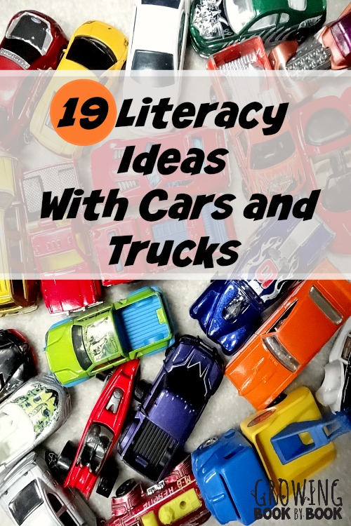 Literacy ideas for car and truck play from growingbookbybook.com