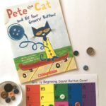 Pete the Cat and His Four Groovy Buttons and button alphabet cover up