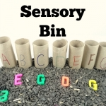 Alphabet Activities: Seed Sensory Bin