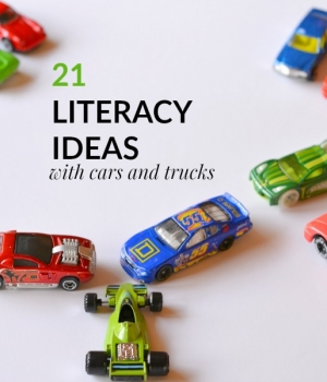 Playful literacy ideas that use cars and trucks as a theme. Fun ideas for working on learning the alphabet, environmental print, sight words, and more.