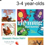 Our favorite books for kids age 3-4 from growingbookbybook.com