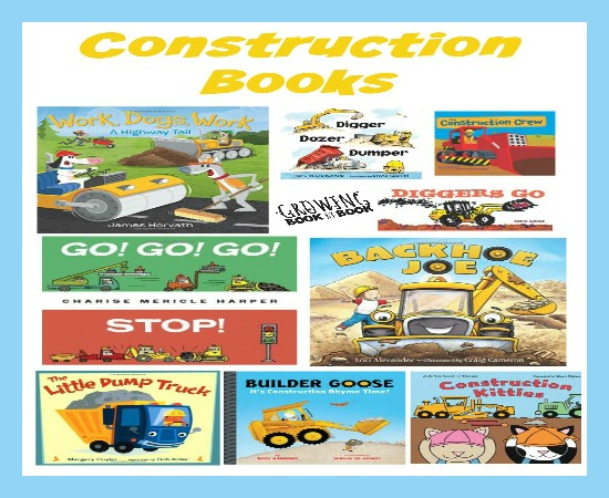 The ultimate book list for kids that love construction vehicles from growingbookbybook.com