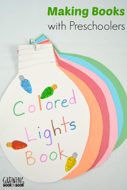 making books with preschoolers is full of colorful fun with this colored lights book from growingbookbybook.com