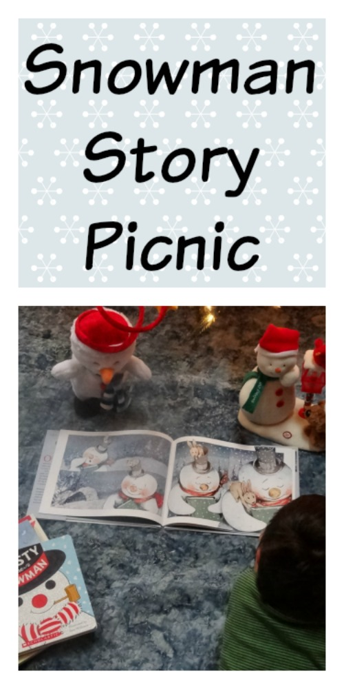 reading activities: create a snowman story picnic complete with snow snacks and great books from growingbookbybook.com