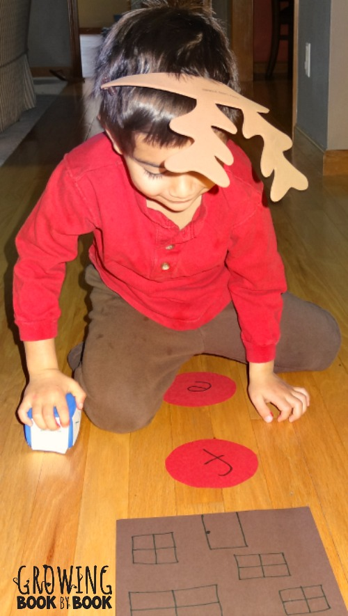 playing reindeer roll alphabet activity