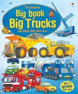 my boys adore everything car and truck related right now so the usborne big book of big machines with huge fold out pages keeps them engaged for quite some