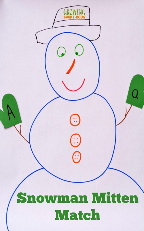 An alphabet activity with a snowman theme for this week's #playfulpreschool ideas for snowmen!