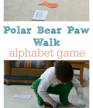 A polar animal themed alphabet game for kids including song recommendations from growingbookbybook.com
