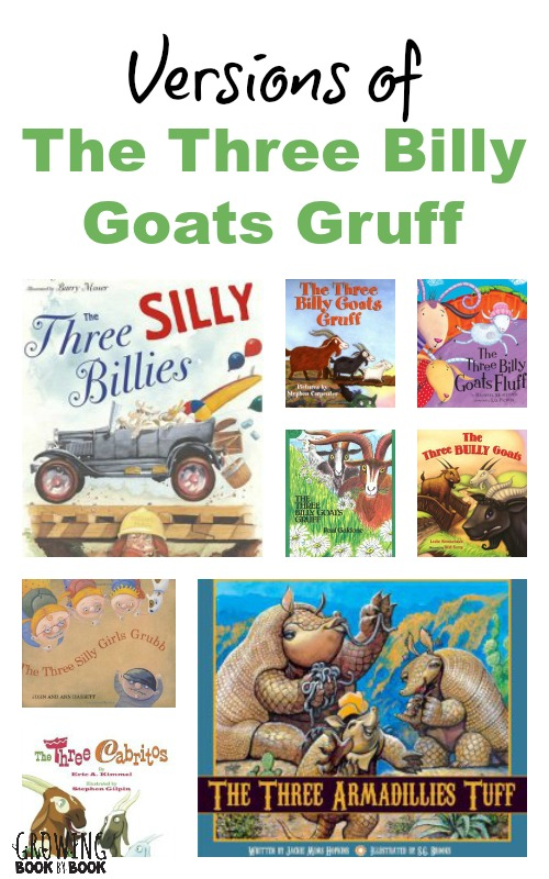 The Three Billy Goats Gruff Books (traditional and variation tales) from growingbookbybook.com