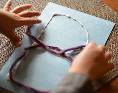writing activities for preschoolers wool yarn letters