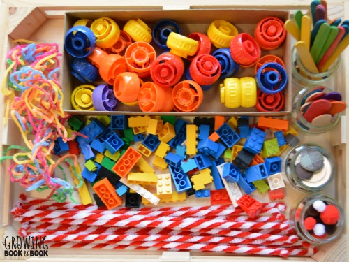 A variety of small parts for letter building game