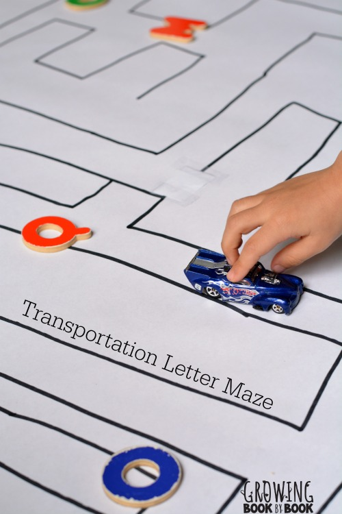 Alphabet activities with a transportation theme that will get the kids playing and learning.