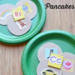 Serve a plate of beginning sound pancakes with a fun hands-on #playfulpreschool activity from growingbookbybook.com