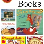 Pizza books for Kids that will motivate you to cook with kids from growingbookbybook.com
