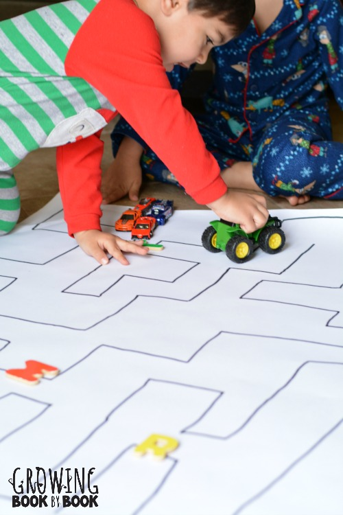 Play this fun alphabet activity by driving through the letter maze.