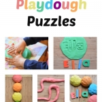 Learn how to spell your name with this #playfulpreschool playdough activity from growingbookbybook.com .