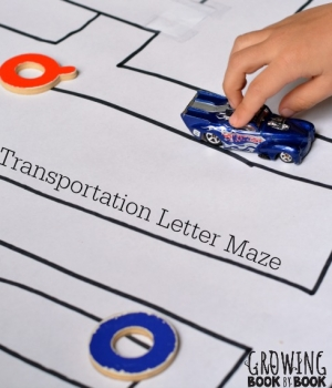 alphabet activities with a transportation theme