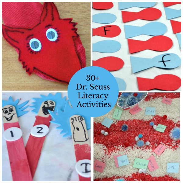 Lots Of Dr Seuss Literacy Activities For Learning The Alphabet Fine Motor Skills