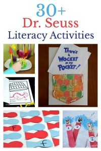 Lots of Dr. Seuss literacy activities for learning the alphabet, fine motor skills, writing activities. sight words and more!