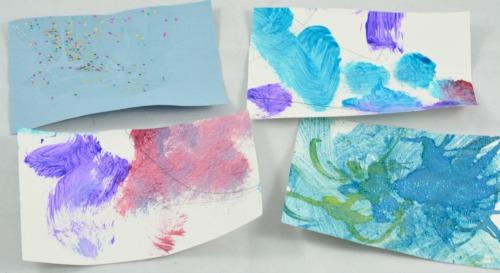 writing activities: decorating postcards