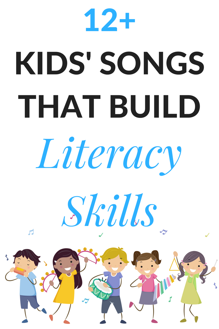 Over 12 songs for kids that entertain and build literacy skills. Perfect for the classroom or home. A great music play list for kids, teachers, and parents.