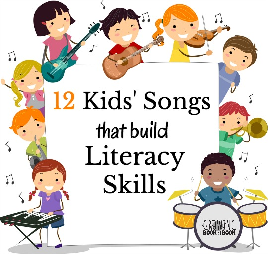Kids' songs that build literacy skills. Perfect for the classroom, home, or in the car.