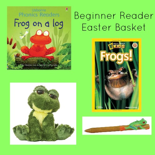 Easter basket ideas for beginning readers to help build literacy skills.