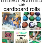 Creative uses for cardboard rolls that build literacy skills!