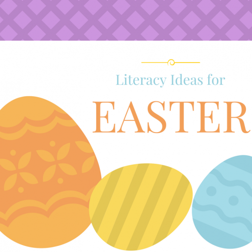 playful literacy ideas for kids that are Easter themed