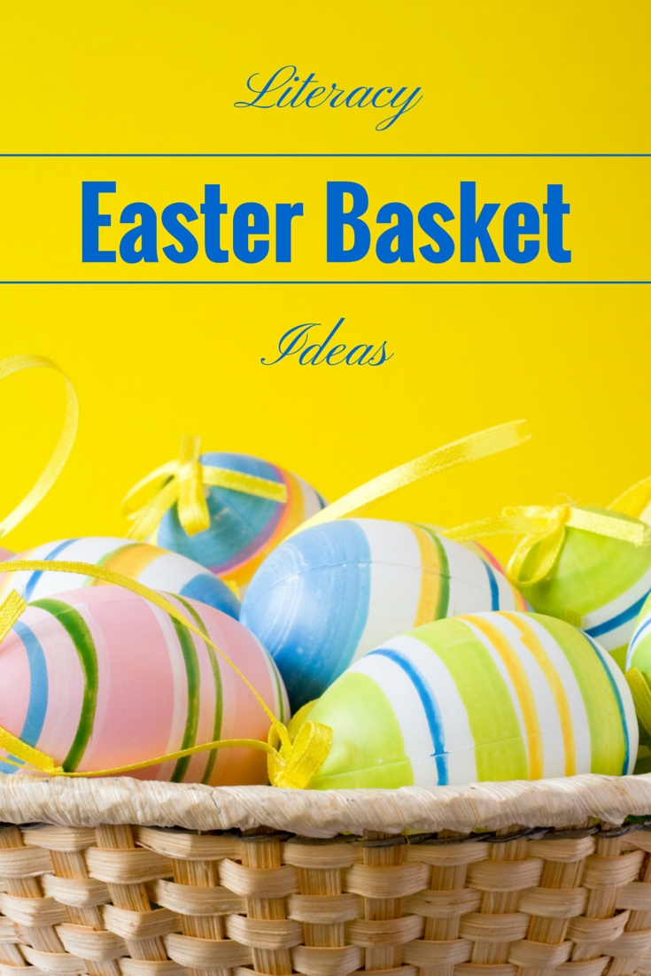 Easter basket ideas for babies, toddlers, preschoolers, new and independent readers that help build literacy skills!