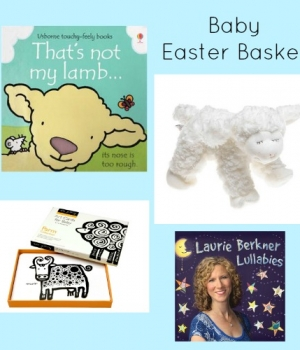 Easter basket ideas for babies to help build literacy skills.