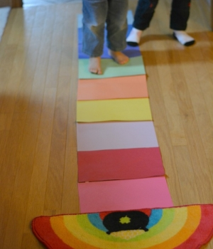 language activity for building vocabulary with a rainbow theme