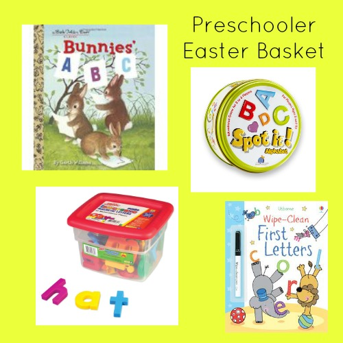 Easter basket ideas for preschoolers that help build literacy skills.