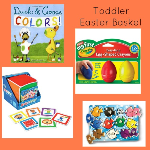 Easter basket ideas for toddlers to help build literacy skills.