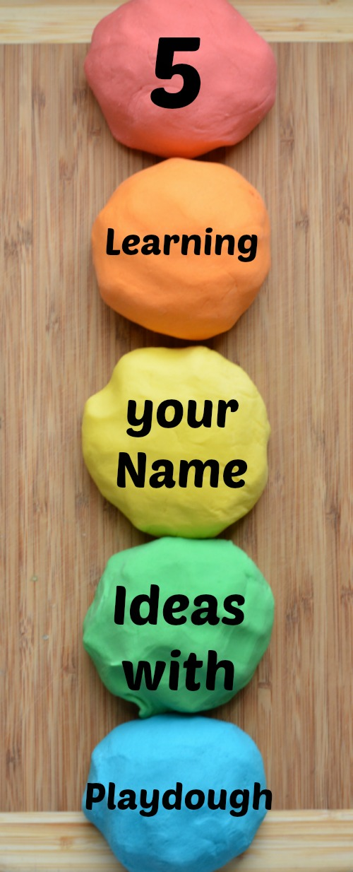 Learning Your Name with Playdough is super fun with these five hands-on learning activities.