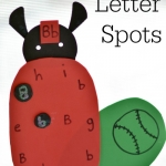 Playful alphabet activities are a fun way to learn letters. This ladybug themed activity is perfect for spring learning.