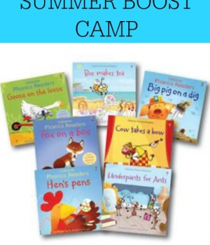 Keep those beginning reading skills strong with this summer reading boost camp!