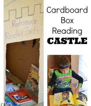 A fun reading nook idea to compliment a castle theme for preschool!
