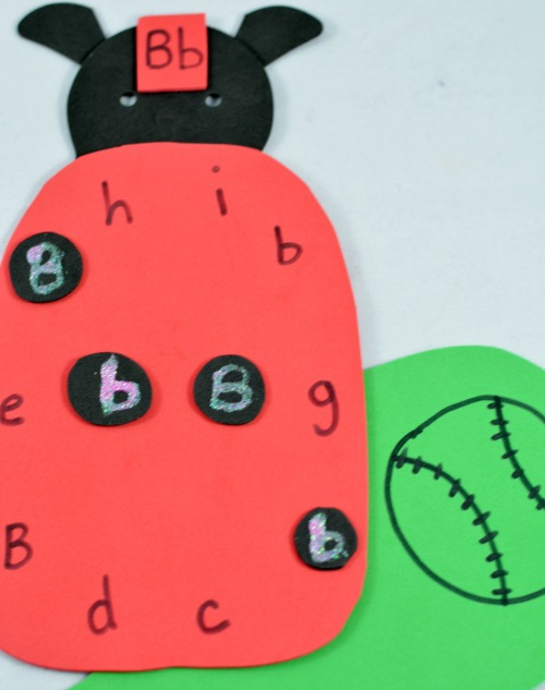 alphabet activities: ladybug letter activity
