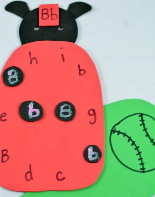 alphabet activities: ladybug letter activity