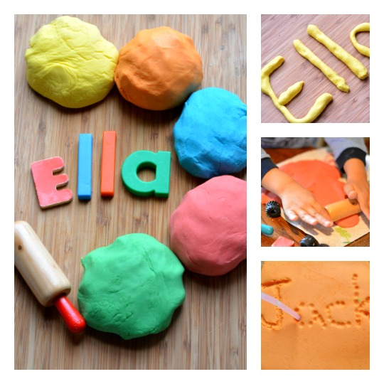 5 playful ways to teach kids their name using play dough. Perfect learning your name activities for preschoolers!