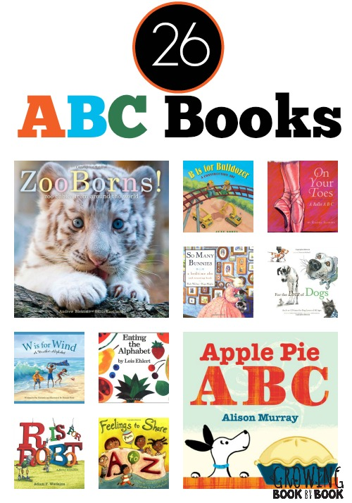 ABC books on 26 different topics and themes!  A fun book list for kids from Growing Book by Book.