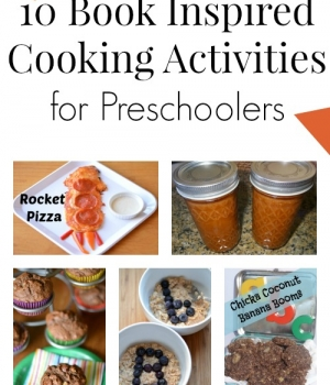 Get inspired by great books for kids to cook and bake with preschoolers!