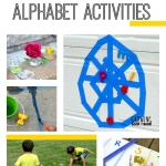 A fun set of outdoor summer alphabet activities to keep the kids learning their ABCs all season.