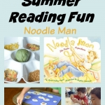 Have a superhero book inspired summer full of fun. Lots of hands-on activities based on the book Noodle Man great for summer camps, DIY camps or library reading programs.