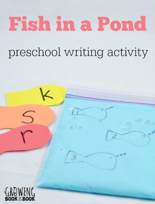 Preschool Writing Activities: Fish in a Pond