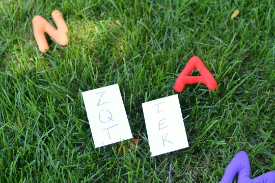 alphabet activities set up
