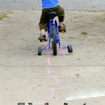 Let the kids bike down the alphabet road! A fun alphabet activity for preschoolers.
