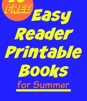 10 easy reader printable books for kids that are available for FREE! A great way to encourage new readers over the summer.