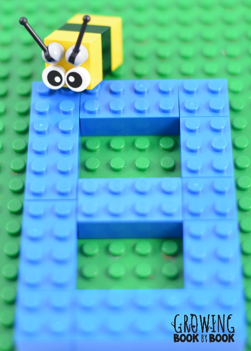 Lego activities that build reading and writing skills beginning sound activity b is for bee malvernweather Images